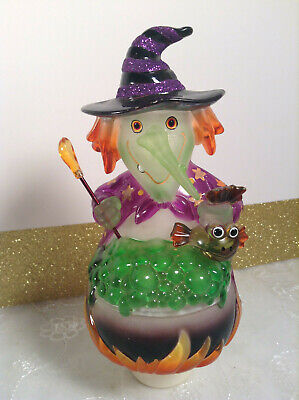 Plastic Witches Cauldron (Vintage Clear Plastic Glitter Witch & Cauldron Nightlight for)