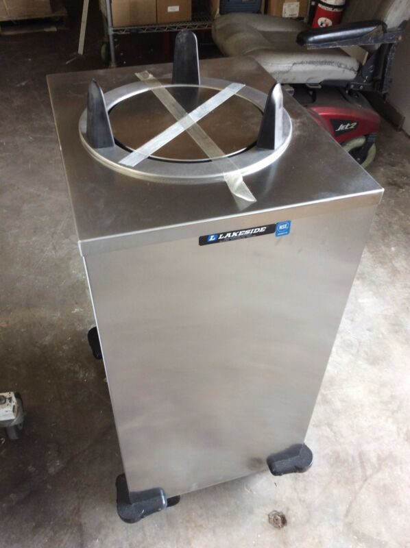 LAKESIDE Stainless SteelSingle Plate Lowerator on Casters-Non-Heated