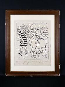 Jean PLUMET(1871-1939)Mâcon Saône et Loire Dessin original humoristique signé BD - France - Jean PLUMET (1871-1939) Dessin original, projet d'illustration, signé en bas gauche Dimensions (uvre seule) : 38 cm x 30 cm / Dimensions (cadre) : 55,2 cm x 44,6 cm Poids : 1,935 kg Jean Louis Plumet, dit Jean Plumet, né en 1871 Mcon (Sane-et-L - France