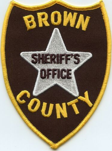 BROWN COUNTY ILLINOIS IL SHERIFF POLICE PATCH