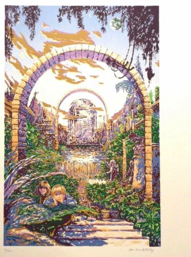 Ron Walotsky Silk Screen Print The Garden Limited Edition signed numbered