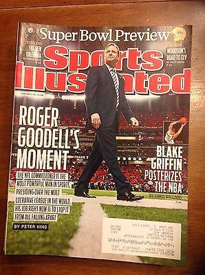 February 7 2011 Roger Goodell Football Sports Illustrated Magazine Commissioner