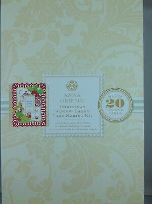 ANNA GRIFFIN CHRISTMAS WINDOW FRAME CARD MAKING KIT-NEW
