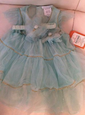 Flapper Baby Costume (Pottery Barn Kids Baby Flapper Mint Tulle Dress Halloween Costume 6-12 mo)