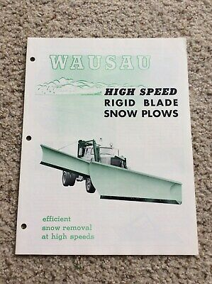 1965 Wausau ridid blade snow plows sales literature, for heavy-duty (Heavy Duty Snow Plow Trucks For Sale)