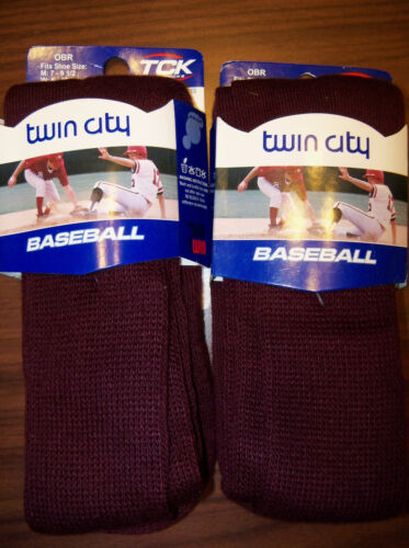 2 Pair TCK Maroon Multi Sport Socks Size 7 - 9.5 Mens / 6 - 10 Women NWT
