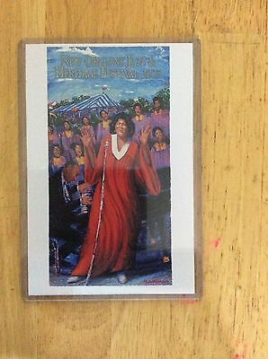 2003 New Orleans Jazz Fest Poster Postcard Mahalia Jackson James Michalopoulos