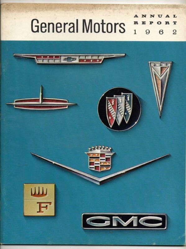 Annual Report For General Motors 1962 wi/ 1963 Cars