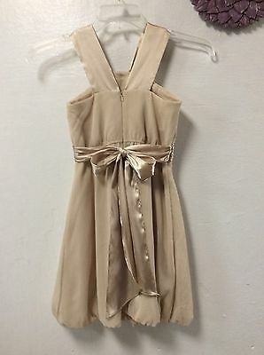 David's Bridal girls dress size 10 dressy champagne beige color balloon 59 (Champagne Colored Balloons)