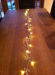 16 White LED Pearl Jewel Line/Garland/Runner Light/Ideal wedding/Christmas Table