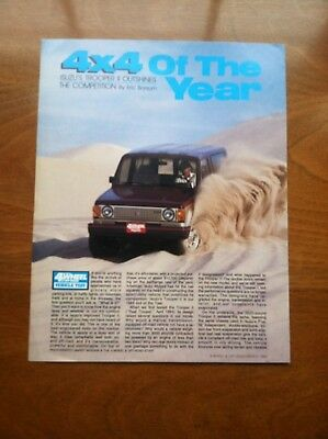 1985 ISUZU TROOPER II SALES BROCHURE, DEALER HANDOUT, ORIGINAL ITEM