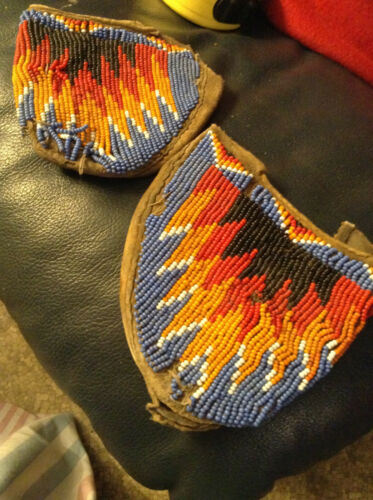 Moccasin tops - beaded