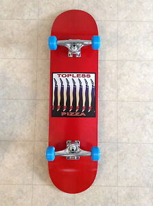 New Pro Complete Skateboard Topless Pizza