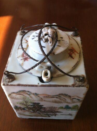 Chinese Square Porcelain Teapot