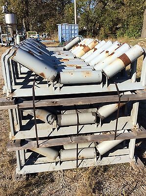 Lot Of 48 Conveyor Rollers Fmc 3000 Conveyor Idlers 35 Degree Sand Gravel Coal