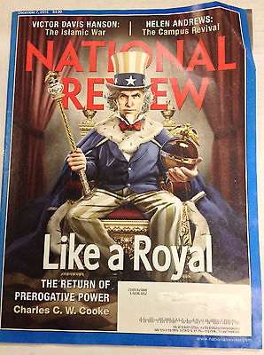 National Review Magazine Charles C W  Cooke December 7  2015 050317Nonr