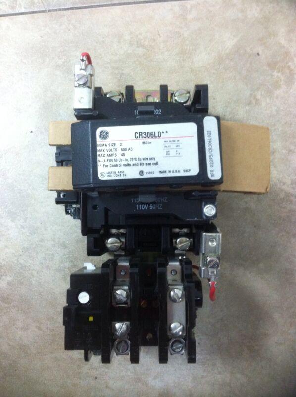 GE GENERAL ELECTRIC CR306L022 SIZE 2 MOTOR STARTER 45A 600V