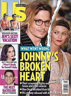Us Weekly Magazine Johnny Depp Vanessa Paradis Jennifer Aniston Justin Theroux