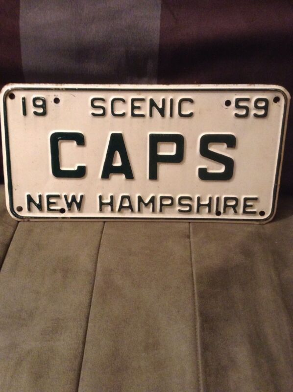1959 New Hampshire CAPS License Plate Rare