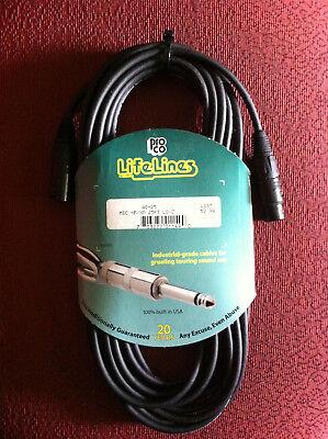 Pro Co Ameriquad Microphone Cable - Pro Co AQ-25 LifeLines AmeriQuad 25' Microphone Cable, Male XLR to Female XLR