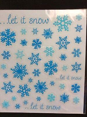 Winter Snowflake Let it Snow Scrapbook Stickers