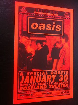 Oasis EARLY USA Liam Noel Liam Gallagher Rare Original Concert Tour Gig Poster
