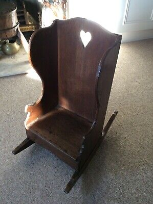 17TH/18TH CENTURY OAK GEORGIAN CHILDS ROCKING CHAIR CIRCA 1720's...