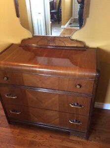Antique Waterfall Dresser in Excellent Condition