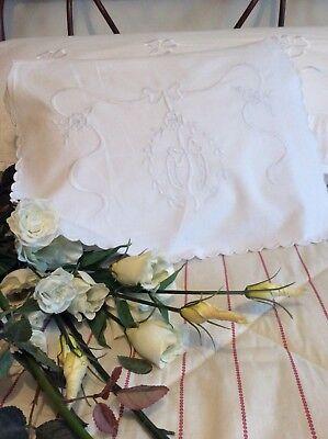 Antique French Trousseau Bridal Lingerie Pouch/Slip case