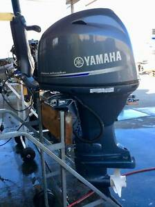 60hp Yamaha Outboard Motor. 4 Stroke. Tiller Steer S2823 Southport Gold Coast City Preview