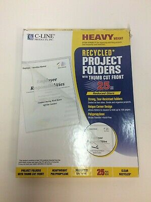 C-line Heavyweight Clear Cover Presentation Folders 25box 62127