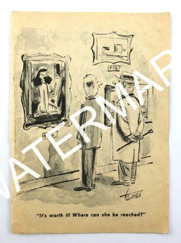 1957 Original Gag Panel Strip Art Sexy Painting Temes Cartoon Jamboree 055A