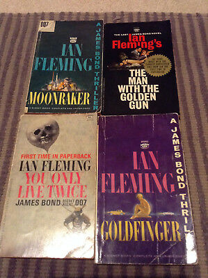 5 Rare James Bond Paperbacks  Ian Fleming  Collectible, used for sale  Seattle