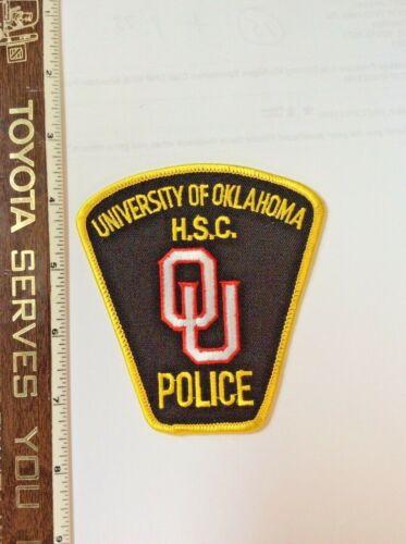 University of Oklahoma HSC OU Police Shoulder Patch New