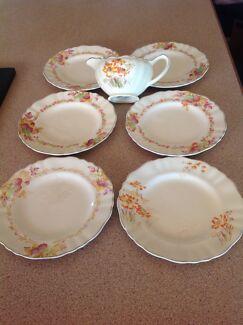 Plates and jug
