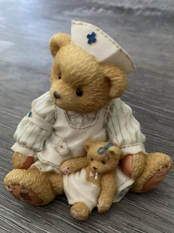 Cherished Teddies FRIENDSHIP MAKES IT ALL BETTER Nurse Caregiver Laura Figurine
