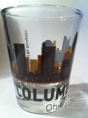 COLUMBUS OHIO SUNSET SKYLINE SHOT GLASS SHOTGLASS