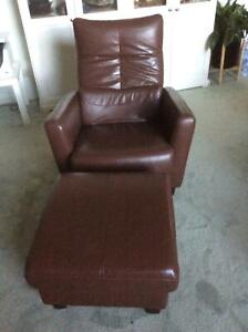 Leather Recliner Lounge Chair