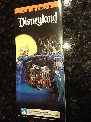 Disneyland Halloween Haunted Mansion Park Map and Guide 2017 jack skellington