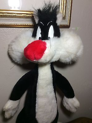 "WB Looney Tunes SYLVESTER CAT Plush STUFFED ANIMAL Toy 19"" 1996 VTG"