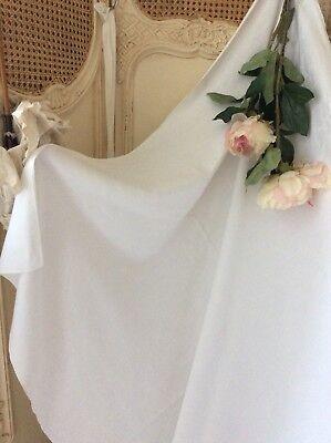 Antique French Fleu de Lis Tablecloth~Pure damask Textile~Linen bed cover 63x51