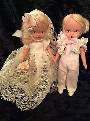 "Sweet Vintage#84&85 Flower Girl & Ringbearer 4.5"" Nancy Ann Storybook Doll Pair"