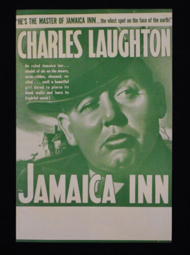 ALFRED HITCHCOCK * JAMAICA INN 1939 * CHARLES LAUGHTON * MAUREEN O