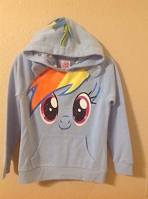 Neu My Little Pony Rainbow Dash Kapuzenpullover Mädchen XL (12/14),M 7/8 S/6 6X) ()
