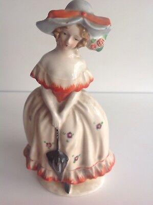 An Art Deco crinoline lady