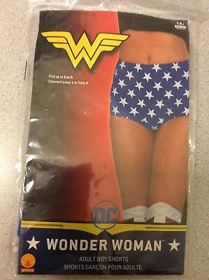 Womens Adult Wonder Woman Boy Shorts Costume Accessory DC Comics - Wonder Woman Costume Shorts