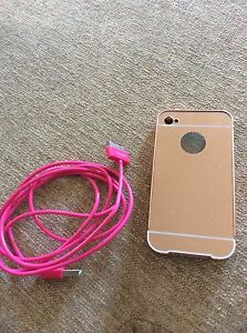Iphone 4 high sheen cover and usb cable Merrimac Gold Coast City Preview