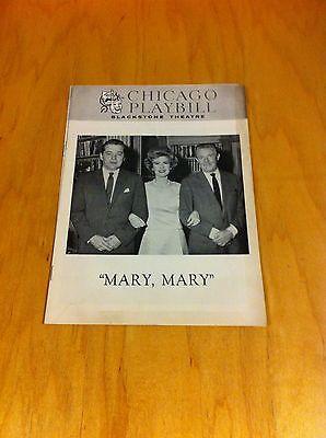 Mary,Mary Julia Meade-Scott Mckay-Tom Helmore Blackstone Theathe Chicago 1963  *