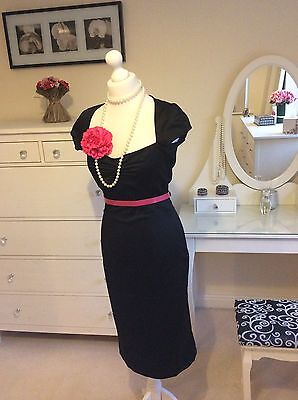 Monsoon black party dress size 12