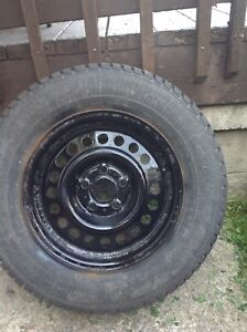 4 snow tires on rims gm